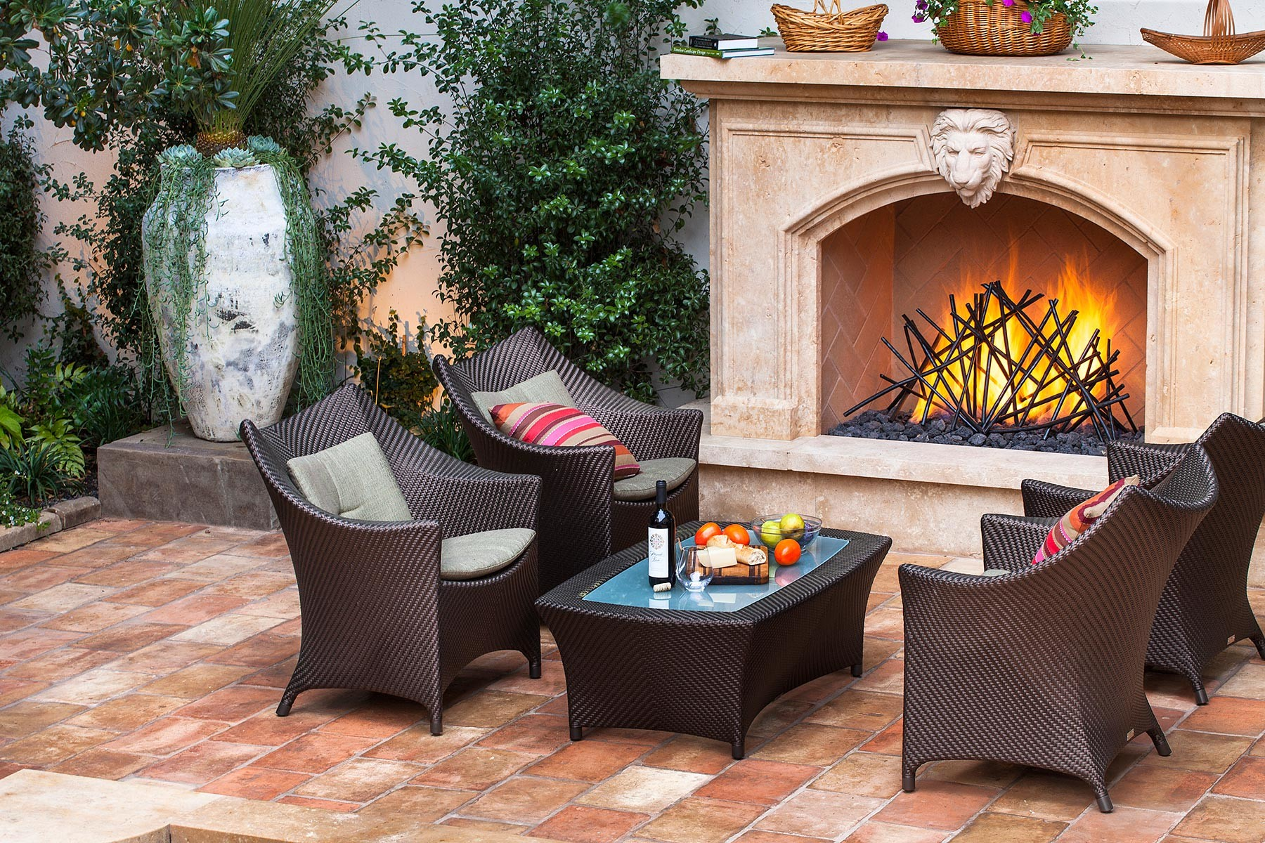 terracotta outdoor fireplace great terracotta clay outdoor clay
